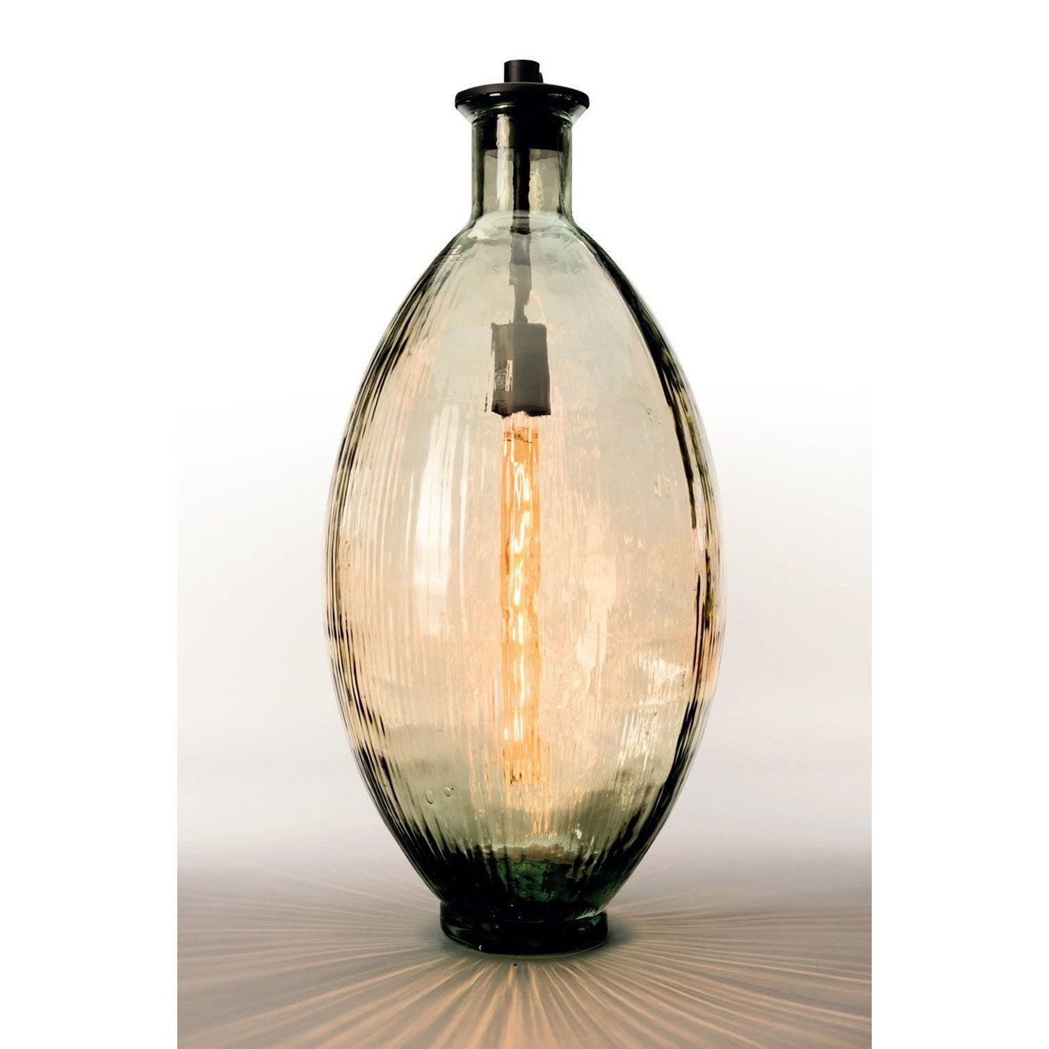 Lampe vase, chic, verre ambre, SAMPA HELIOS Amber D. 29 cm