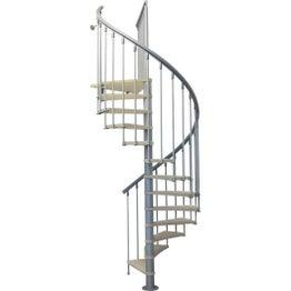 Escalier colimaçon rond Nice structure métal marche bois