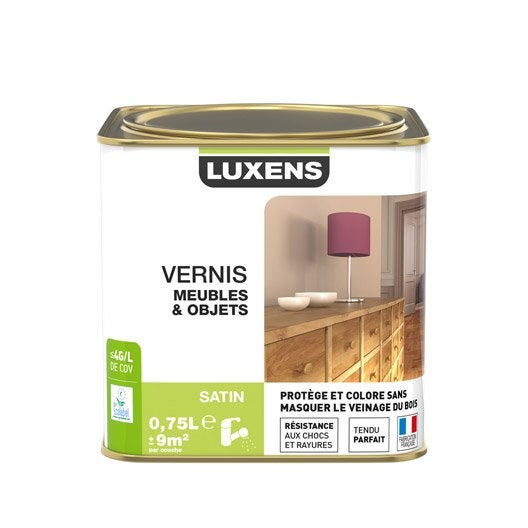 vernis meuble et objets vernis meubles et objets luxens, 0.75 l