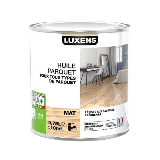 huile parquet huile parquet luxens l incolore leroy merlin. Black Bedroom Furniture Sets. Home Design Ideas