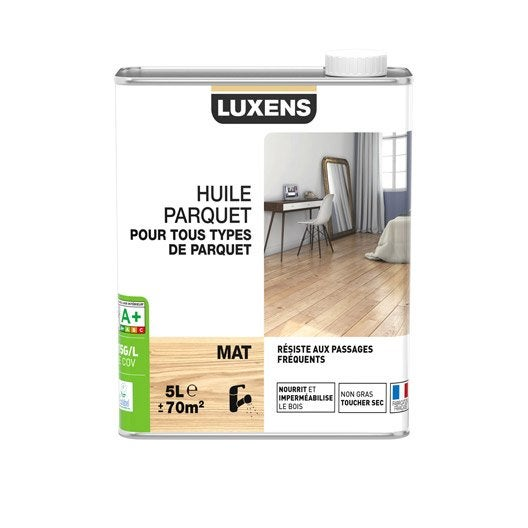 huile parquet huile parquet luxens 5 l incolore leroy merlin. Black Bedroom Furniture Sets. Home Design Ideas