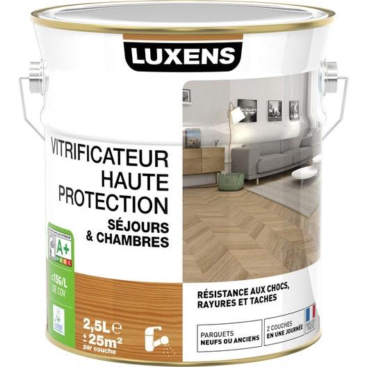 vitrificateur parquet haute protection luxens 2 5 l incolore leroy merlin. Black Bedroom Furniture Sets. Home Design Ideas