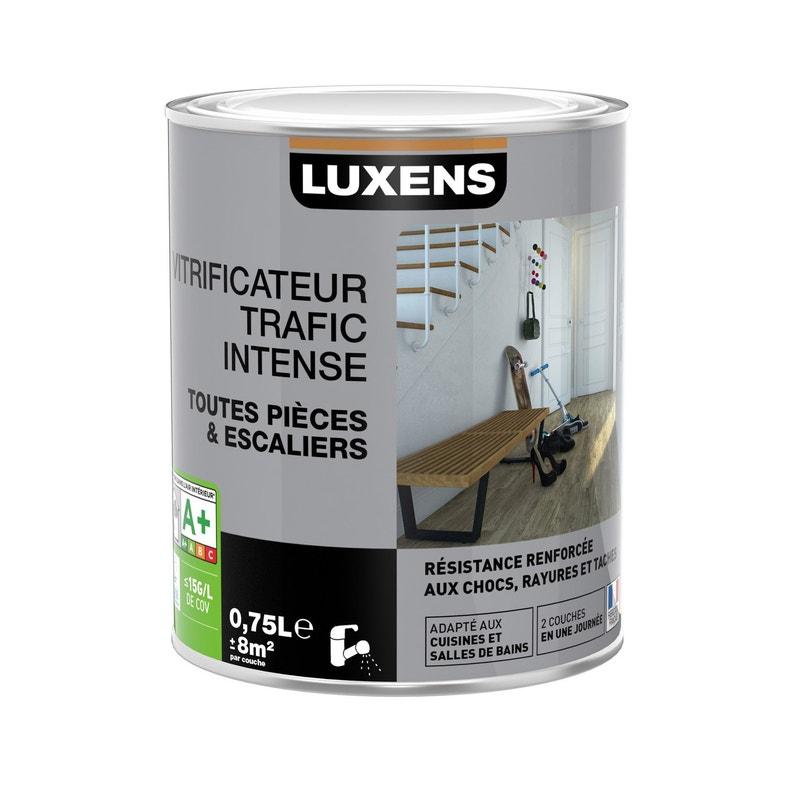 Vitrificateur parquet Trafic intensif LUXENS, 0.75 l, incolore ...