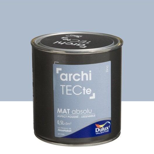 peinture gris zinc dulux valentine architecte 0 5 l leroy merlin