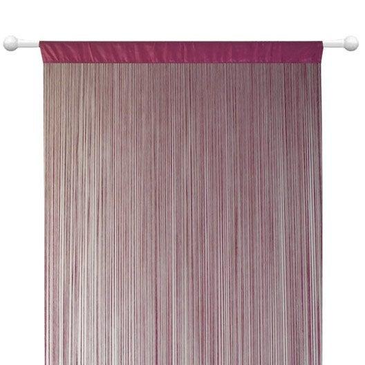 rideau de fil blanc top trendy latest rideau fil blanc. Black Bedroom Furniture Sets. Home Design Ideas