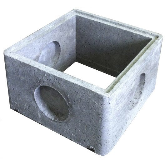 Rehausse de regard b ton 59x59x34 cm leroy merlin - Rehausse chambre de visite beton ...