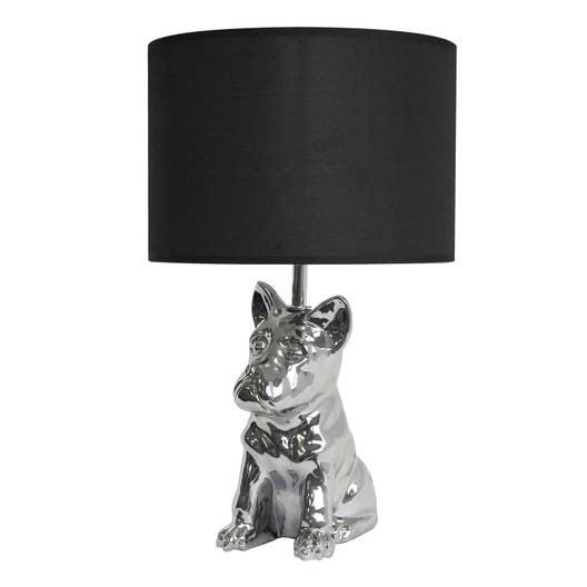lampe e27 baxter seynave tissu noir 40 w leroy merlin. Black Bedroom Furniture Sets. Home Design Ideas