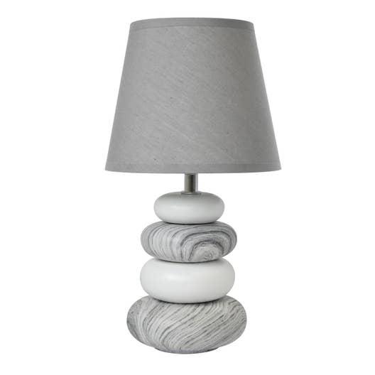 lampe e14 arizona seynave tissu gris 40 w leroy merlin. Black Bedroom Furniture Sets. Home Design Ideas