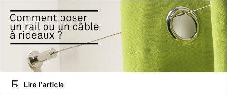 Article - Comment poser un rail ou un câble à rideaux ?