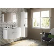 Meuble de salle de bains de 100 à 119, blanc / beige / naturels, Elegance