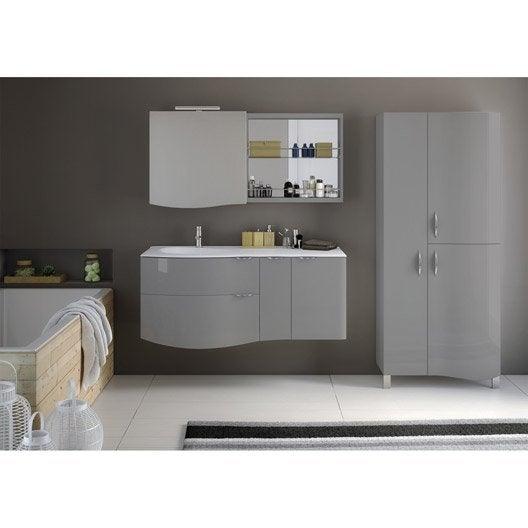 Meuble de salle de bains de 100 à 119, gris / argent, Elegance ...