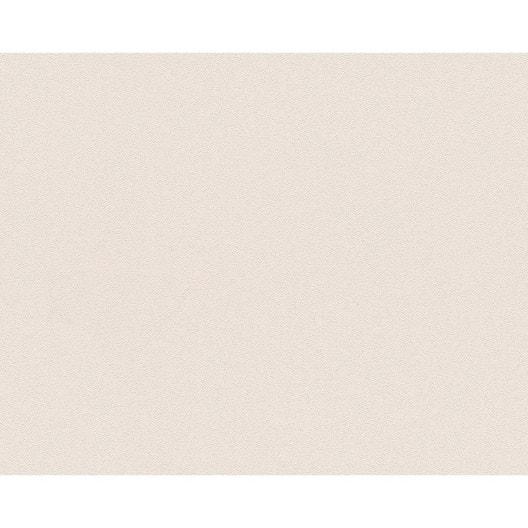 Papier Peint Uni Blanc Gris Clair Intisse Ap 2000 Leroy Merlin