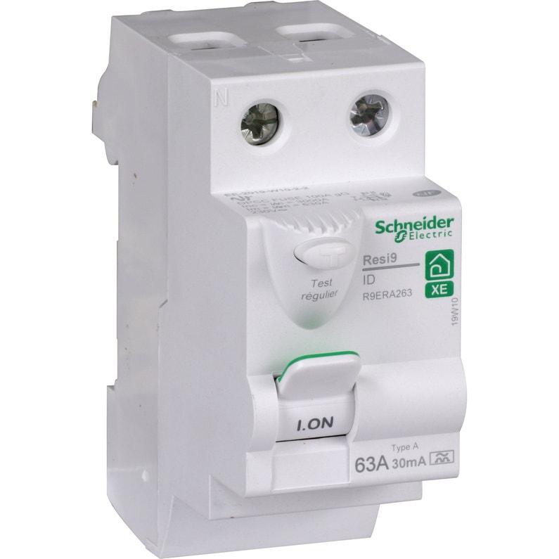 Interrupteur Différentiel Schneider Electric 30ma 63aa