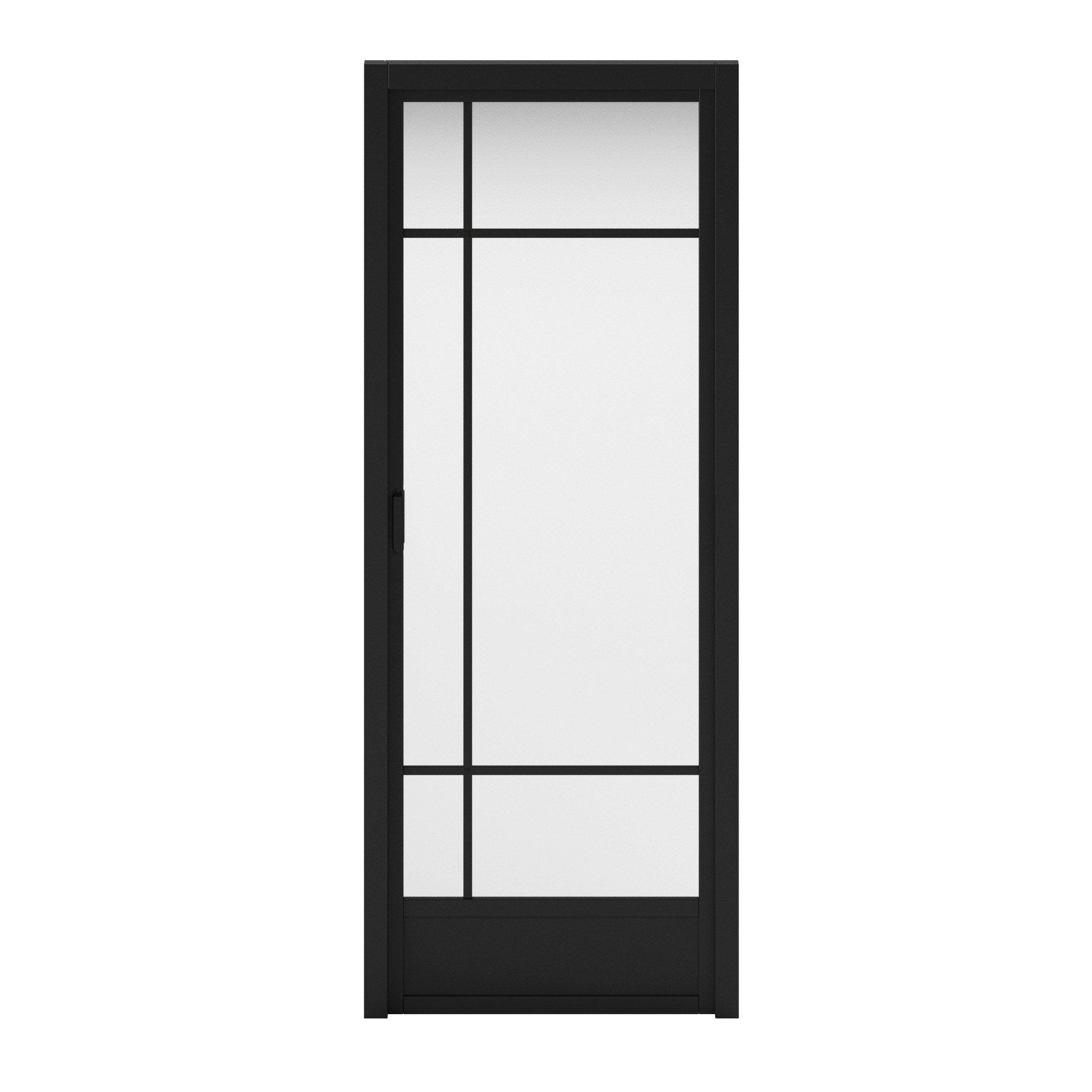 Bloc-porte avec bâti ajustable médium Emma ARTENS, H.204xl.73cm poussant droit