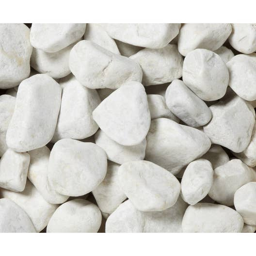 Galets en marbre mat, blanc, 30/50 mm, 25 kg | Leroy Merlin