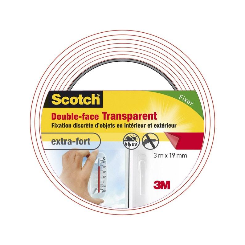 Adhésif Scotch Fixation Double Face Intérieurextérieur L3m Xl19mm Transparent