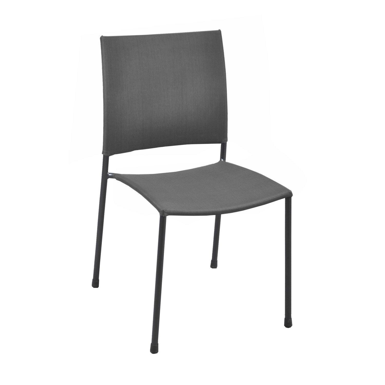 Chaise de jardin en acier globe gris leroy merlin - Mousse pour chaise leroy merlin ...