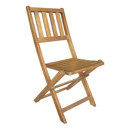 Lot de 2 chaises de jardin en bois porto porto leroy merlin - Lot de chaise de jardin ...