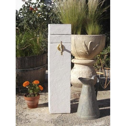 Fontaine de jardin en pierre reconstitu e ton pierre borne for Fontaine de jardin leroy merlin