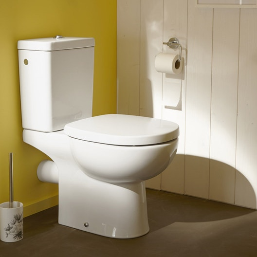Pack WC à poser sortie horizontale, IDEAL STANDARD Idealsoft sans bride 35fa921f53bb
