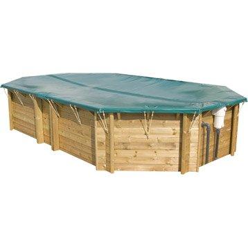 B che piscine s curit piscine leroy merlin for Bache hiver piscine bois