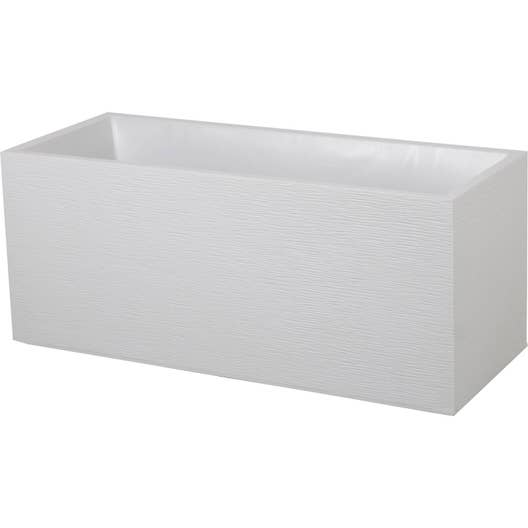 jardini re plastique eda x x cm blanc c rus leroy merlin. Black Bedroom Furniture Sets. Home Design Ideas