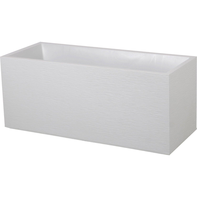 trendy jardinire plastique eda l x l x h cm blanc with jardiniere terrasse pas cher. Black Bedroom Furniture Sets. Home Design Ideas
