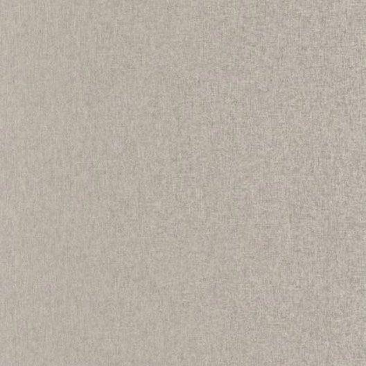 papier peint uni taupe gris intiss 233 linen leroy merlin