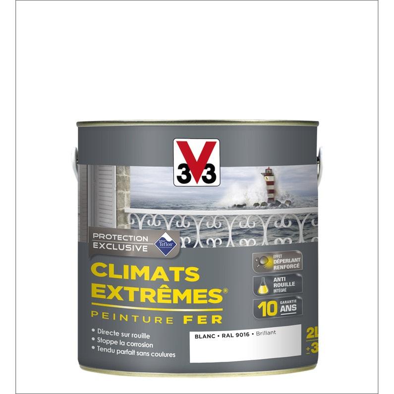 Peinture Fer Extérieur Climats Extrêmes V33 Blanc Banquise 2 L