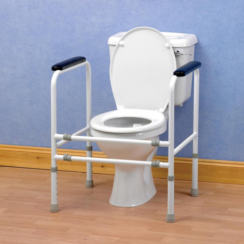 Cadre De Toilettes Ajustable Acier L51 Cm
