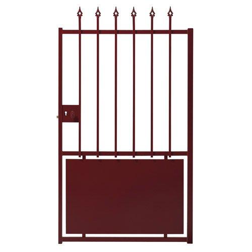 portillon battant en acier galvanis durandal x h. Black Bedroom Furniture Sets. Home Design Ideas