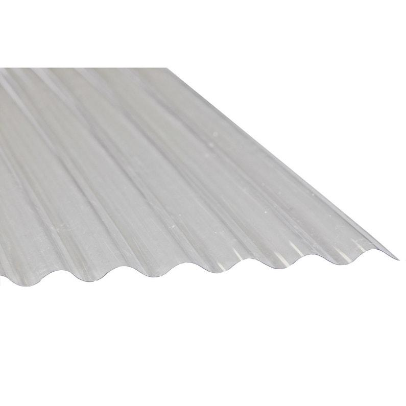 Plaque De Toiture Petite Onde Polyester Translucide L 0 9 X L 3 M