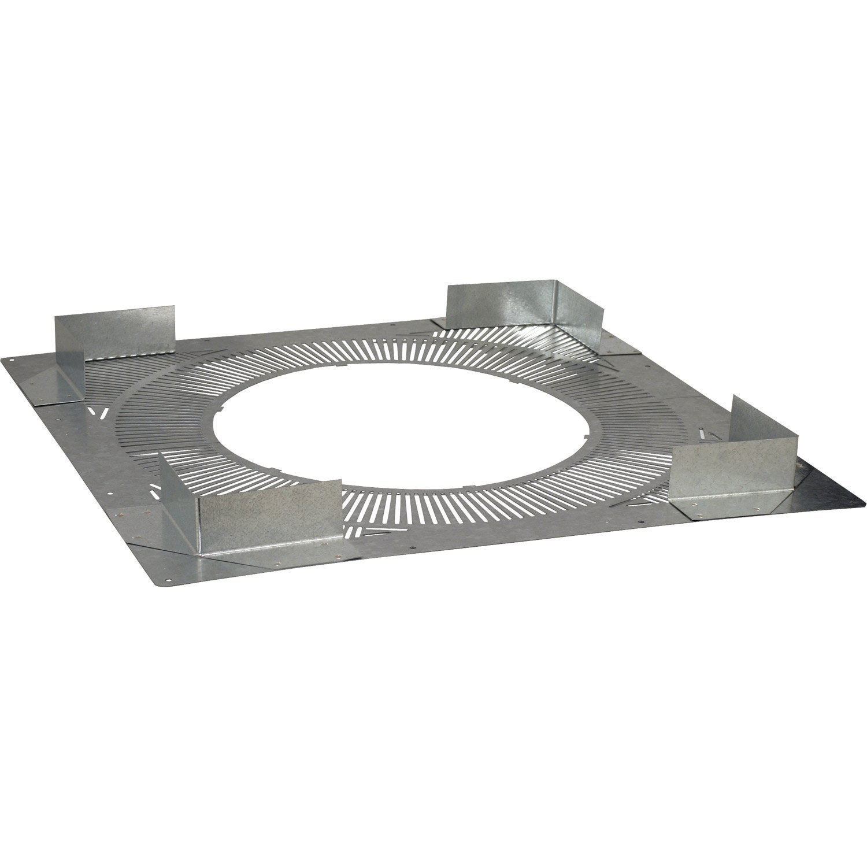 plaque de distance de securite inox galva pds 180 230 poujoulat mm 10x48cm leroy merlin. Black Bedroom Furniture Sets. Home Design Ideas