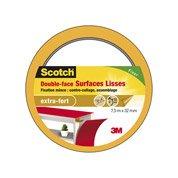 Adhésif SCOTCH fixation double face surfaces lisses L.7.5 m ...