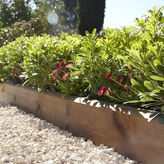 bordure planter kuhmo bois marron x cm leroy merlin. Black Bedroom Furniture Sets. Home Design Ideas