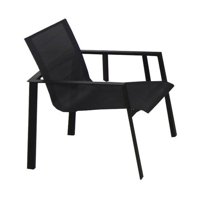 Table de jardin Miami rectangulaire noir 8 personnes   Leroy Merlin