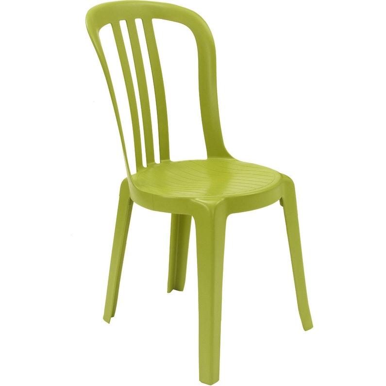 Chaise de jardin en résine Miami vert anis