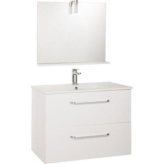 meuble salle de bain dado rouge leroy merlin