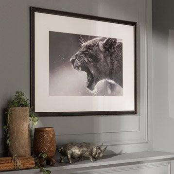 Cadre Vienne, 33 x 95 cm, noir-noir n°0