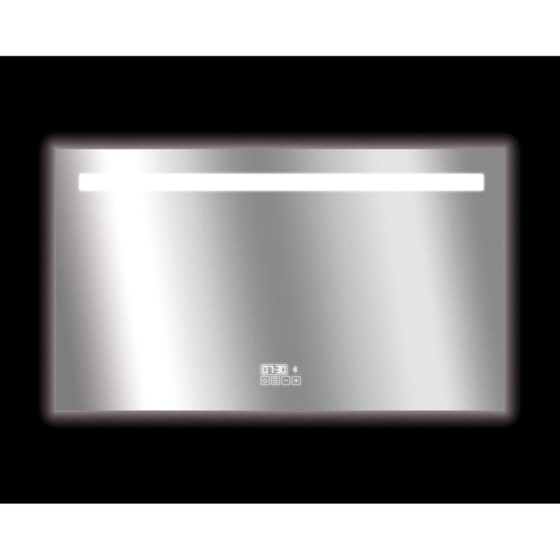 Miroir Lumineux Avec éclairage Intégré L 120 X H 70 Cm Bluetooth