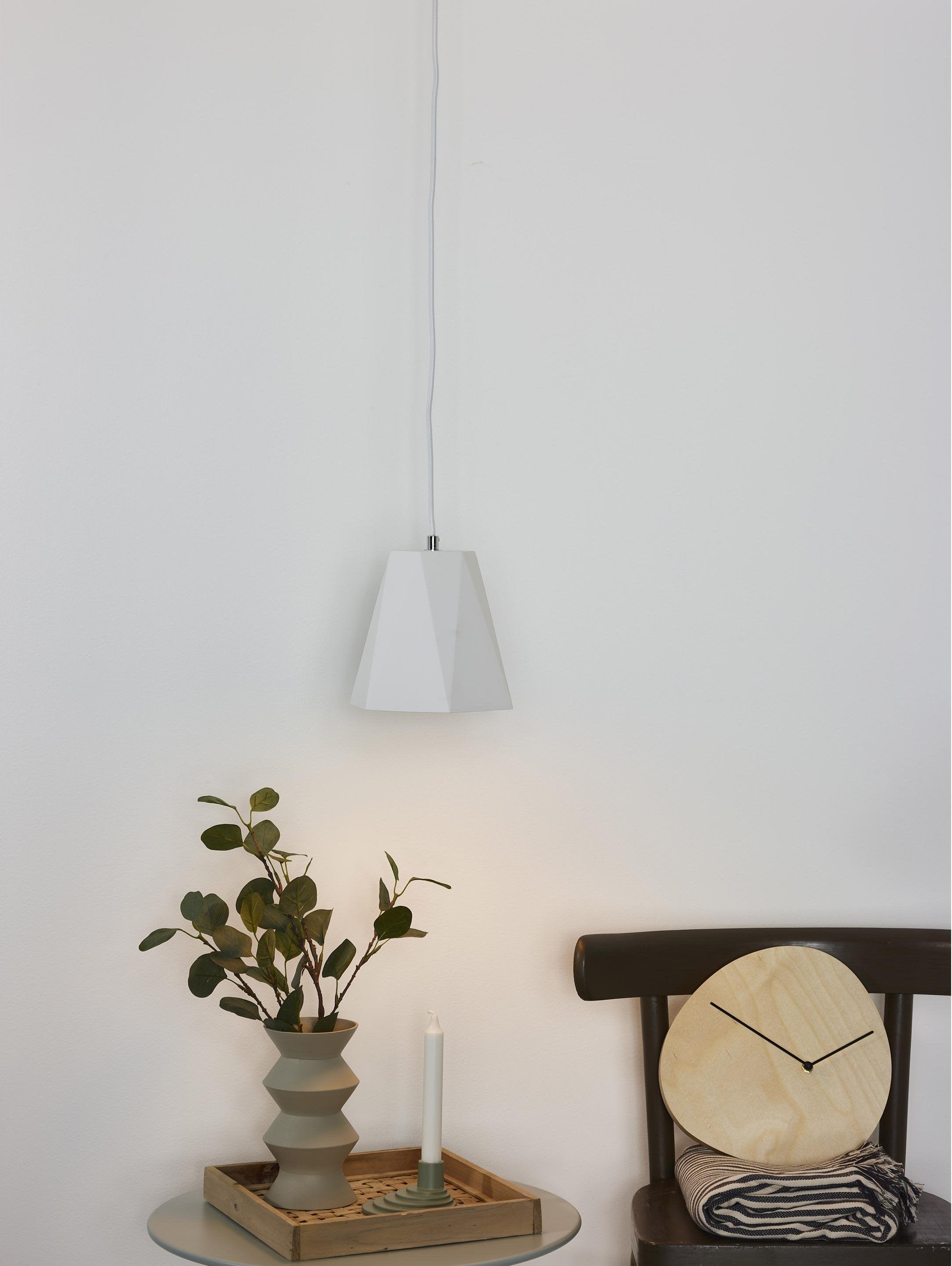Suspension, moderne aluminium blanc LUCIDE GIPSY E27 1 lumière(s)