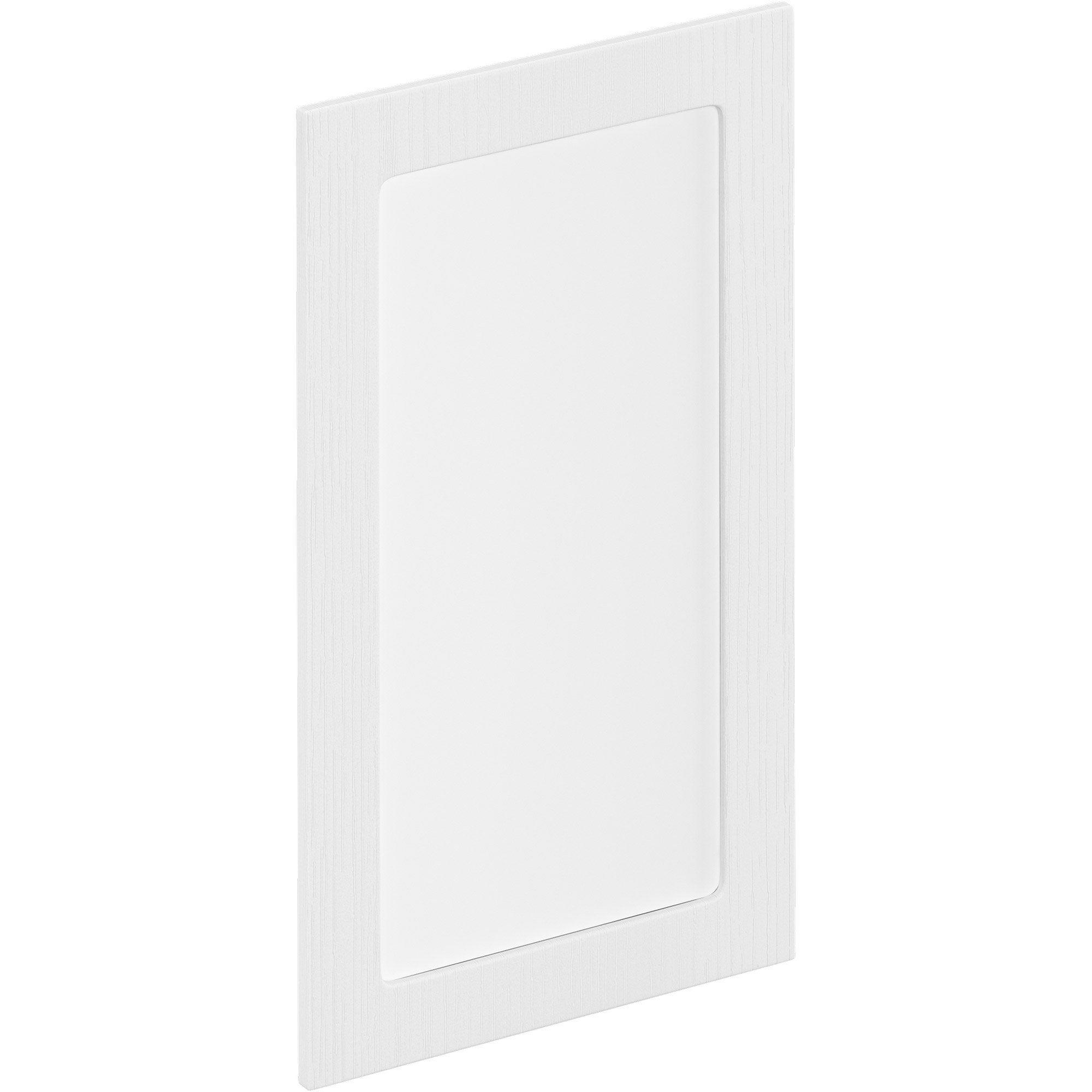 Porte de cuisine vitr e sevilla effet wood blanc delinia id x cm leroy merlin - Porte de cuisine vitree ...