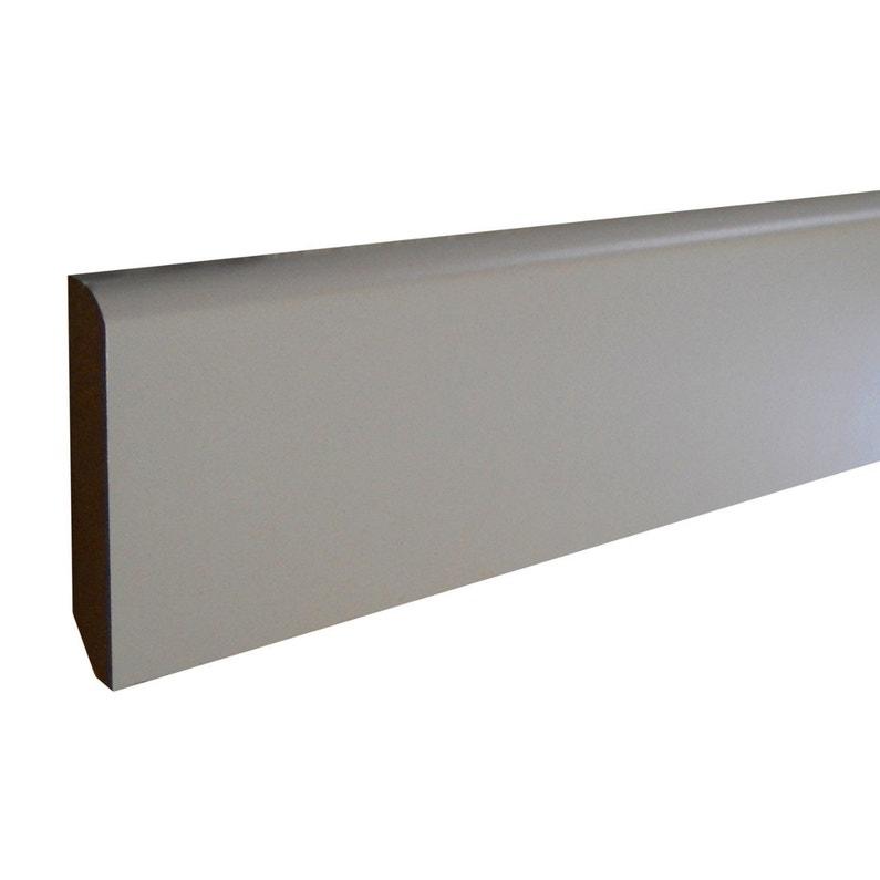 Plinthe Mdf Revêtu Papier Blanc Arrondie H14 X L24 M X Ep78 Mm