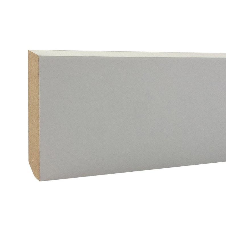 Plinthe Mdf Revêtu Papier Blanc Carrée H12 X L24 M X Ep68 Mm
