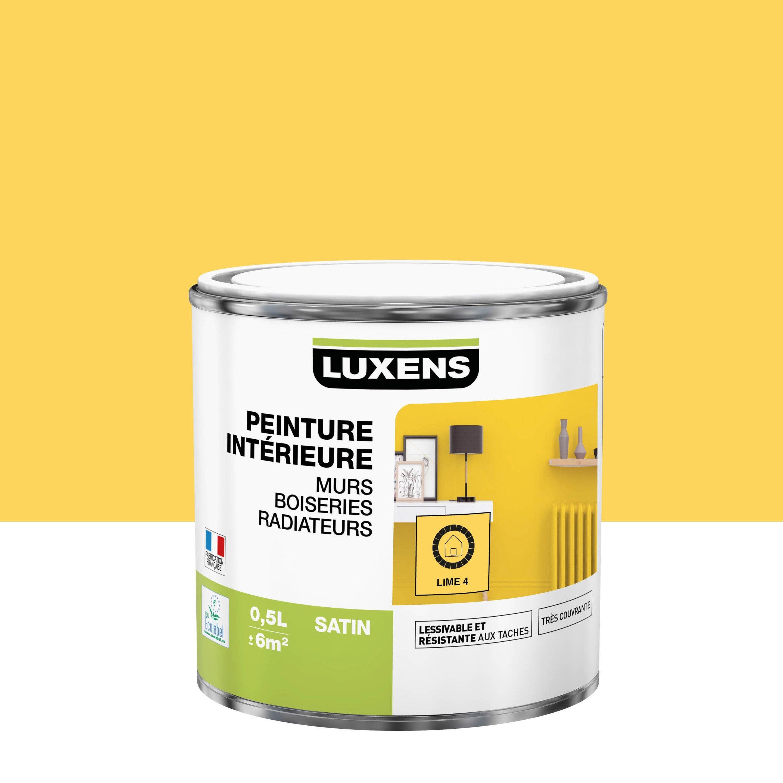 Peinture mur, boiserie, radiateur Multisupports LUXENS lime 4 satiné 0.5 l