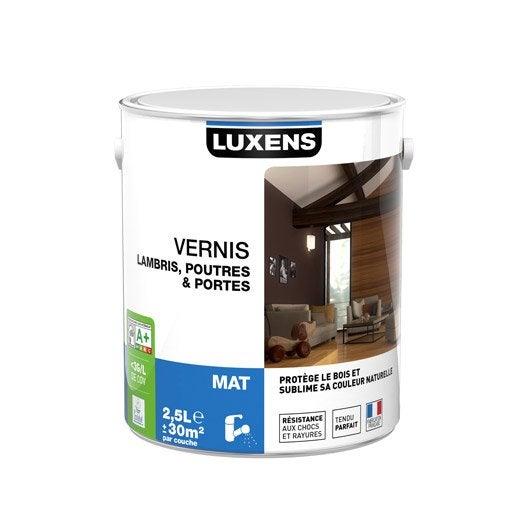 Vernis poutre et lambris luxens 2 5 l incolore leroy - Vernis bois incolore ...