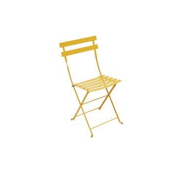 Chaise de jardin en acier Bistro miel