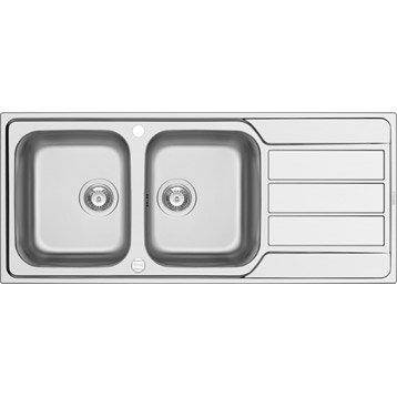 evier de cuisine encastrable ou poser inox quartz r sine au meilleur prix leroy merlin. Black Bedroom Furniture Sets. Home Design Ideas