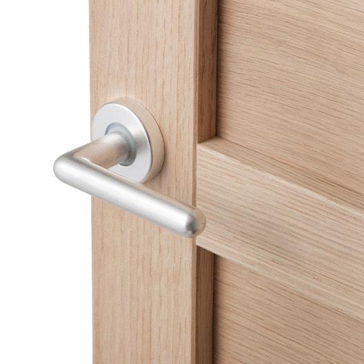 2 poign es sur rosace premier prix aluminium chrom sans. Black Bedroom Furniture Sets. Home Design Ideas