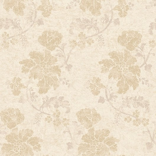 papier peint flower beige dor intiss jade leroy merlin. Black Bedroom Furniture Sets. Home Design Ideas